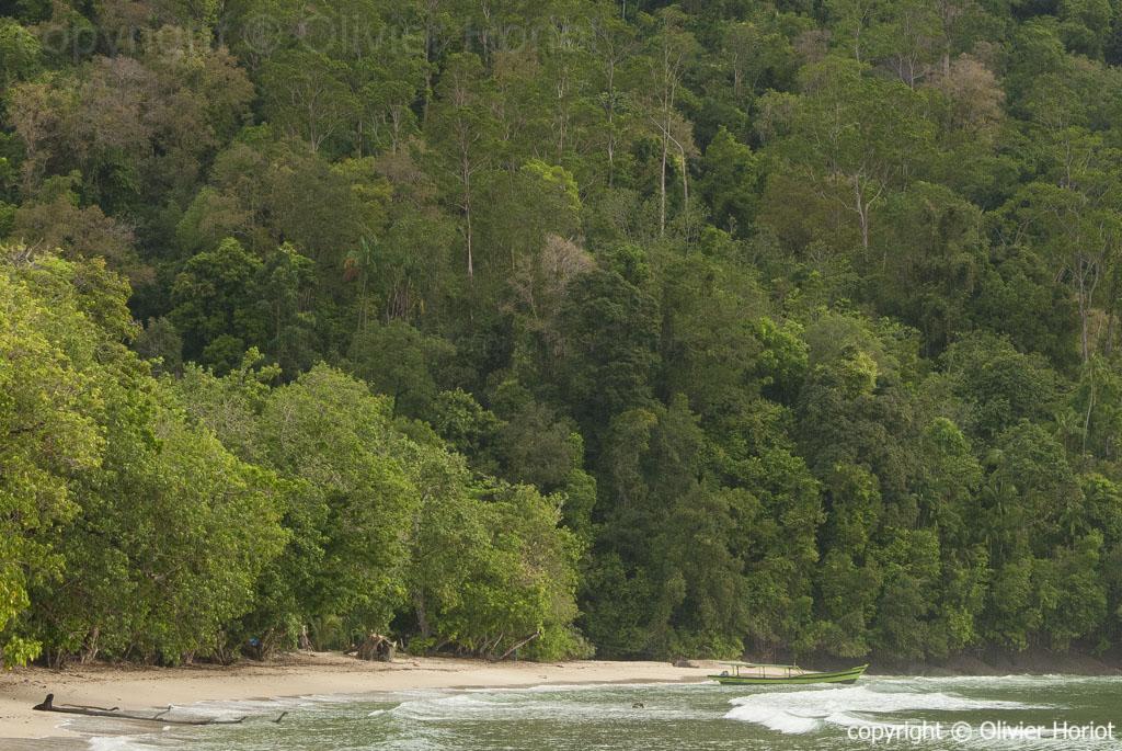 Baie de Muaro duo sur la côte ouest de Sumatra